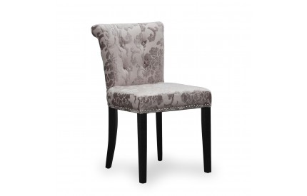 Sandringham Baroque Velvet Mink Accent Chair