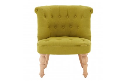 Belgravia Chair Linen Mix Tuft Tropical Hevea Legs