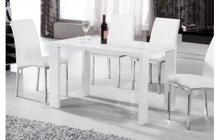 Equador Dining Table White High Gloss