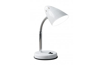 Flexi Desk Lamp (EU Plug) White Metal Chrome