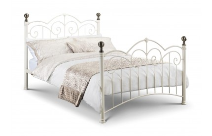 Isabel Stone White/Brass Bed