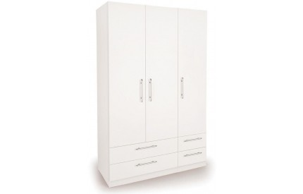 Arrow 3 Door 4 Drawer Wardrobe
