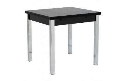 Black Extending Dining Table 80cm - 147cm