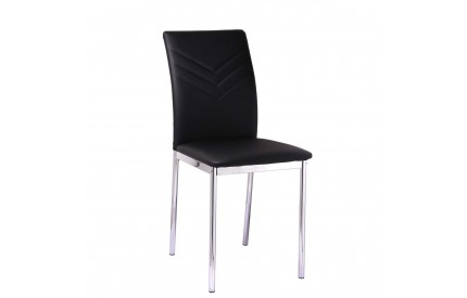 Carina Leather Chairs Chrome