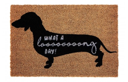 Sausage Dog Doormat PVC Backed Coir