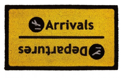 Arrival Departure Doormat PVC Backed Coir