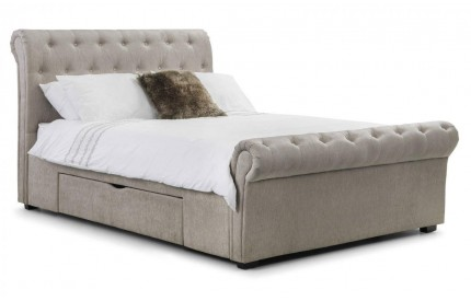 Ravello Mink Chenille Fabric Storage Bed