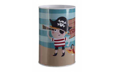 Pirate Money Tin Piggy Bank