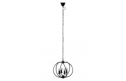 Aspen Pendant Light Matt Black Iron