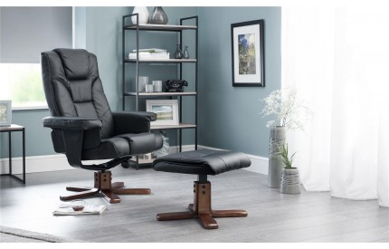 Malmo Swivel Recliner & Stool