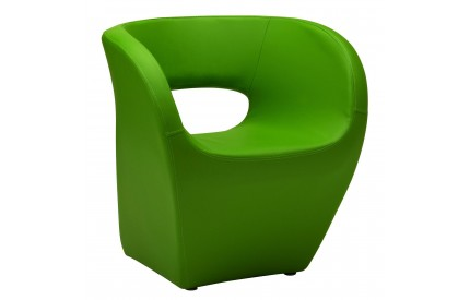 Ardo Chair Apple Green Leather Effect