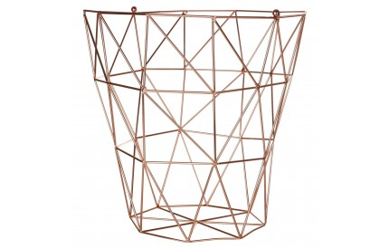 Vertex Bin Basket Copper Finish Iron Wire
