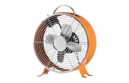 Retro Desk Fan 2 Speeds Orange