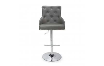 Rocco Leather Match Graphite Grey Bar Stool