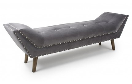Montrose Large Brushed Velvet Grey Chaise