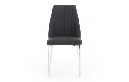 Odeon Curved Back Dark Grey Dining Chair