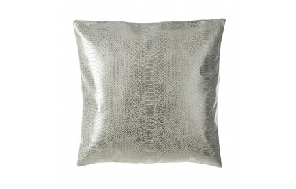 Buckingham Townhouse Cushion Cotton / Polyurethane Silver Snake Skin Effect