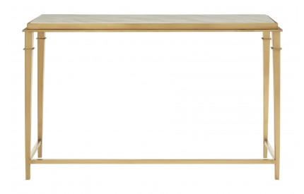 Vari Console Table White Marble / Gold Rectangular