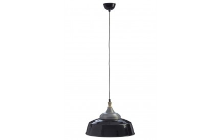 Norway Large Pendant Light Iron / Wood Black