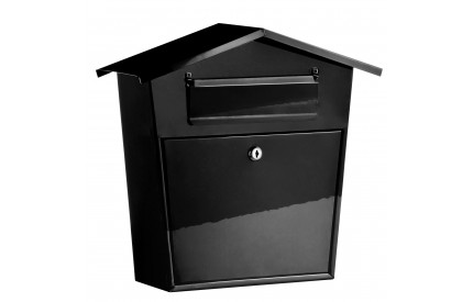 Extra Heavy Duty Black Galvanised Letterbox