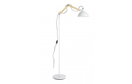 Blair Floor Lamp Wood / Metal White