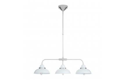 Martino Pendant Light 3 Shades White/Chrome