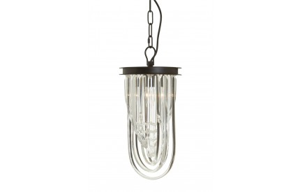 Buckingham Townhouse Pendant Iron / Crystal Light Antique Black Finish