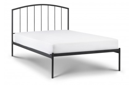 Onyx Black Metal Bed