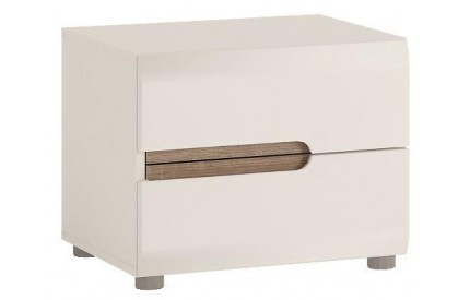 Chelsea Bedroom 2 Drawer Bedside White