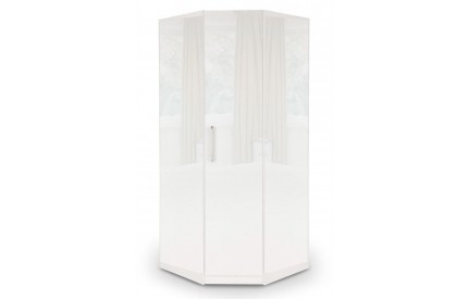 Charms Mirror Gloss White Corner Wardrobe