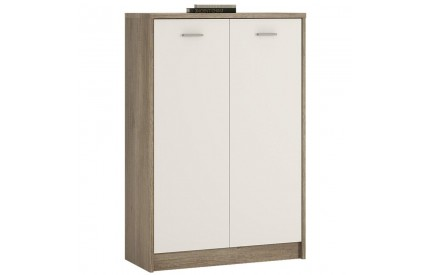 4 You Tall 2 Door Cupboard in Canyon Grey / Pearl White