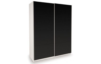 Vermont White Slider High Gloss Black Doors