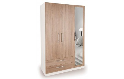 Huston 3 Door 2 Wide Drawer Mirrorr Wardrobe