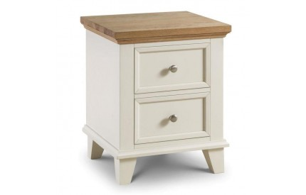 Portland 2 Drawer Bedside Assembled