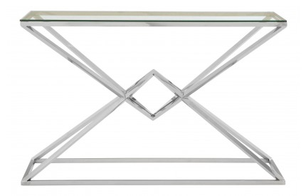Premium Console Table Stainless Steel / Glass Rectangular