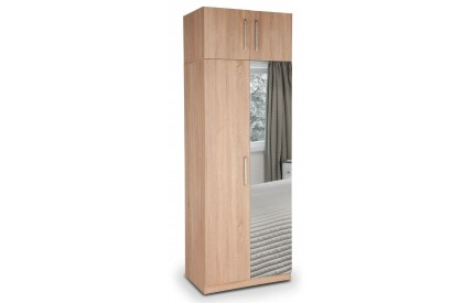 Osborn Plus Oak 2 Door Mirror Wardrobe
