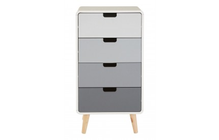 Milo Chest of 4 Drawers Light Grey