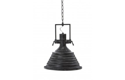 Lexwork Pendant Light Black / Silver Glass Shade