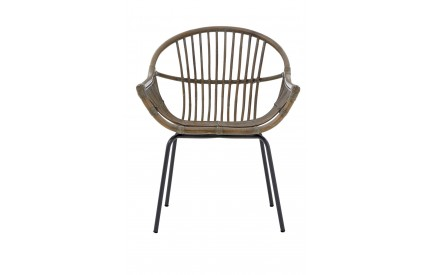 Lagom Grey Wash Chair Rattan/Metal