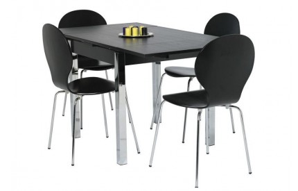 Black Extending Dining Table 120cm - 187cm