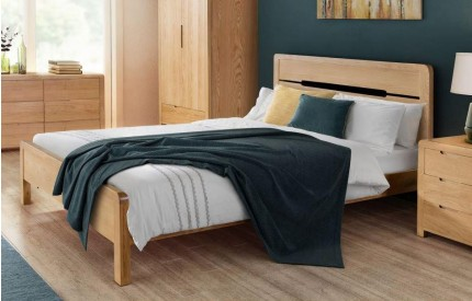 Curve Contemporary Oak Bed