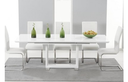 Extra Large High Gloss Extending Dining Table
