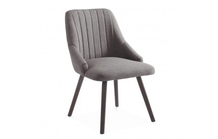 Pessa Fabric Chair Grey Black Metal Legs (4s)