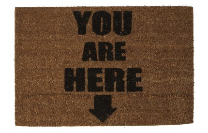 You Are Here Doormat PVC Backed Coir