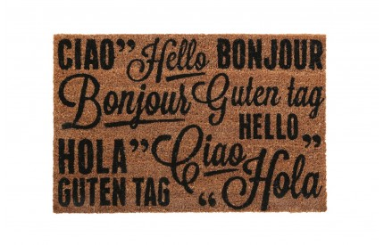 Greetings Doormat PVC Backed Coir
