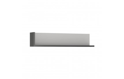 Lyon 120cm Wall Shelf Grey Gloss