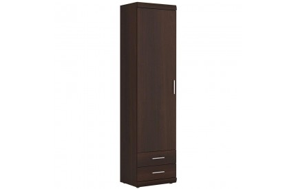 Imperial Tall 1 Door 2 Drawer Narrow Cabinet Mahogany