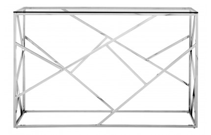 Premium Console Table Clear Glass Stainless Steel