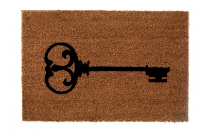 Key Doormat Coir/PVC Backed Natural/Black