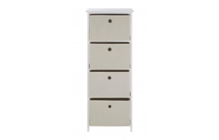 Lindo Cabinet 4 Natural Fabric Drawers
